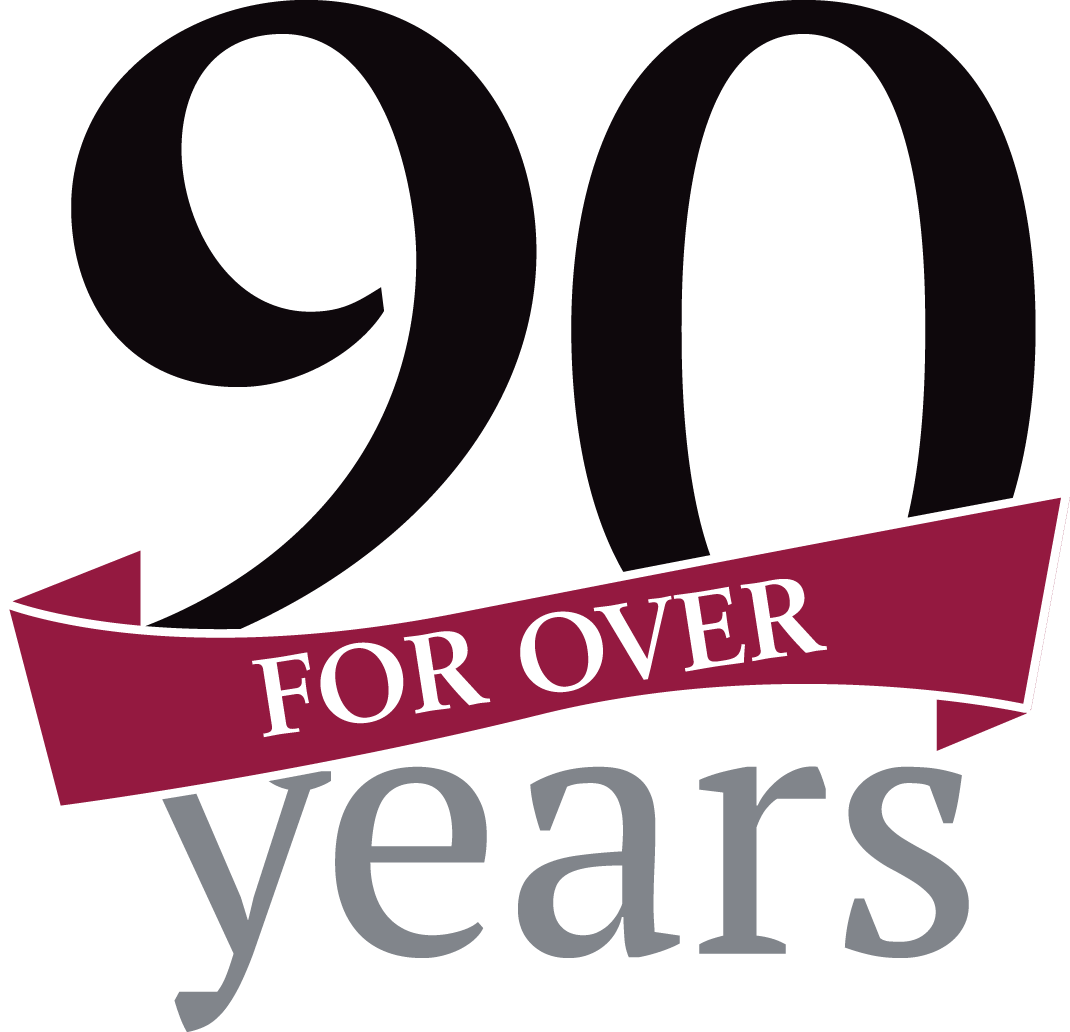 For Over 90 Years Logo